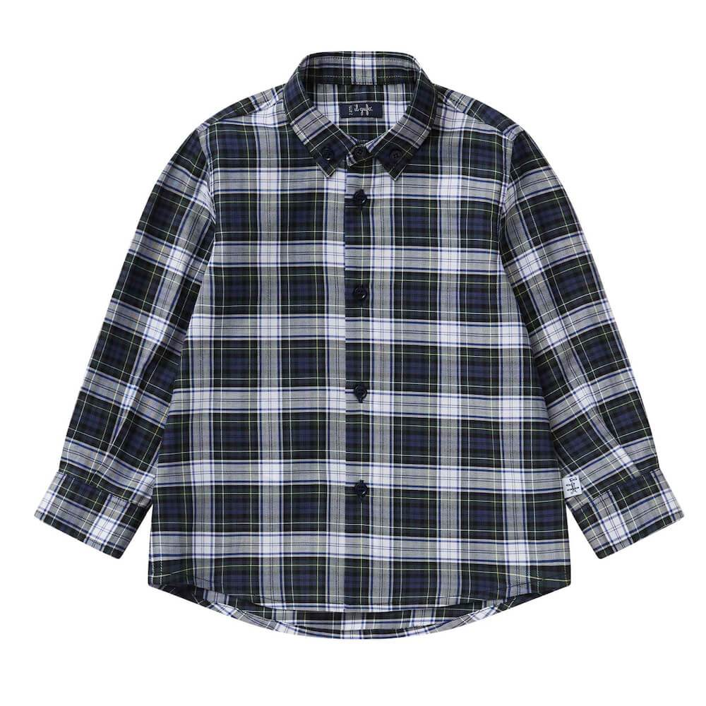 il Gufo Cotton Flannel Check Shirt Shirts - Tiny People Cool Kids Clothes