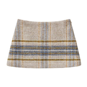 Checked Mohair Skirt