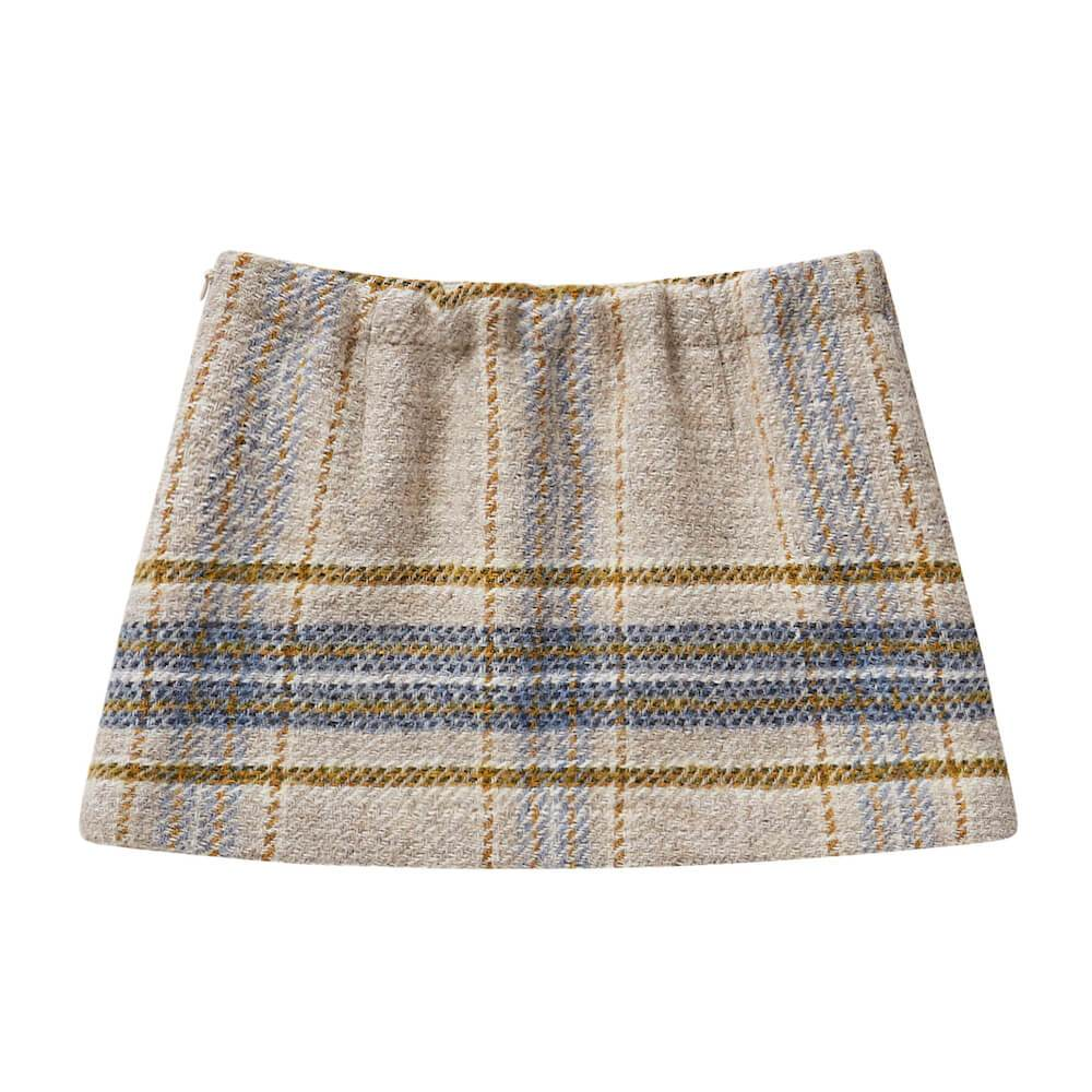 il Gufo Checked Mohair Skirt Skirts - Tiny People Cool Kids Clothes