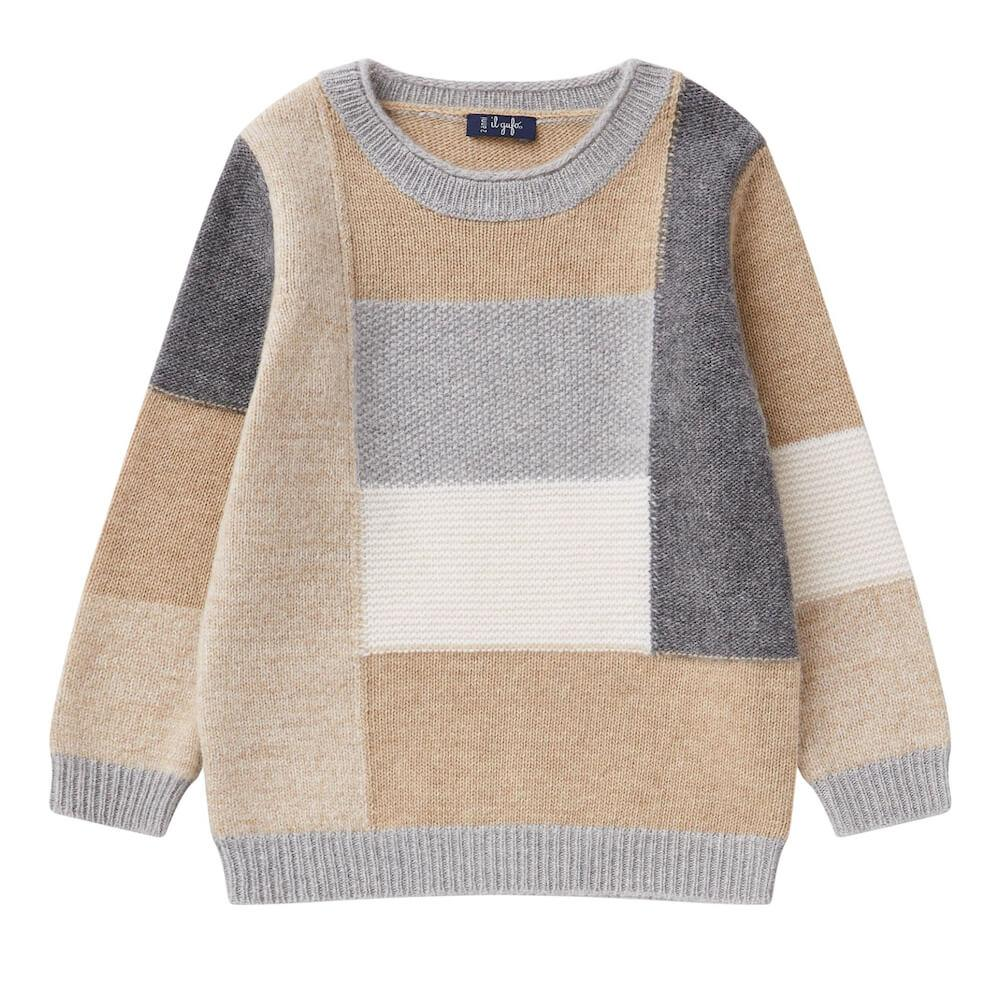 Rectangles Wool Sweater