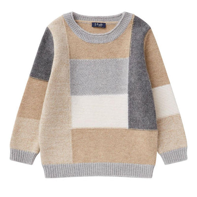 il Gufo Rectangles Wool Sweater Jumper - Tiny People Cool Kids Clothes