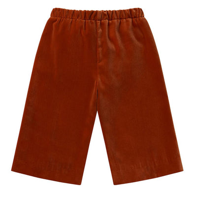 il Gufo Cherry Velour Cullotes Pants - Tiny People Cool Kids Clothes