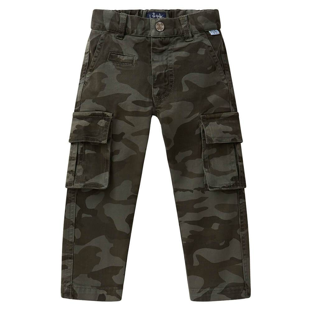 il Gufo Camoflage Garbadine Trousers Pants - Tiny People Cool Kids Clothes