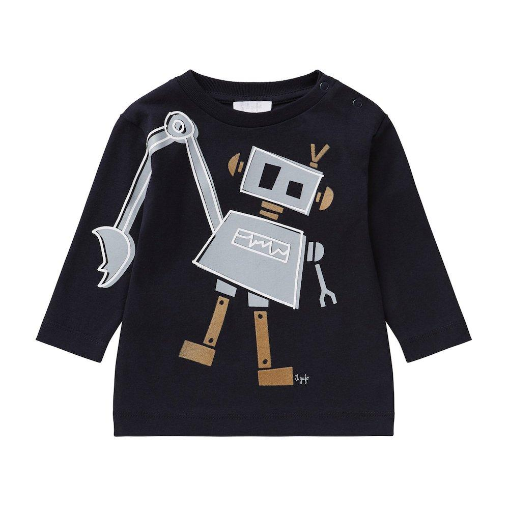il Gufo Robot LS Tee Tops & Tees - Tiny People Cool Kids Clothes