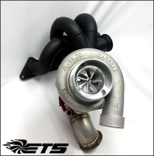 Precision Turbo Supra: ETS Evo 8/9 Front Facing Turbo Kit
