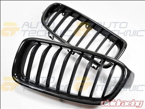 AutoTecknic Replacement Real Carbon Fiber Front Grilles BMW F30 Sedan | F31 Wagon | 3 Series 12-14
