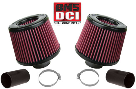 BMS Dual Cone Performance Intake for BMW available in Red or White Filters