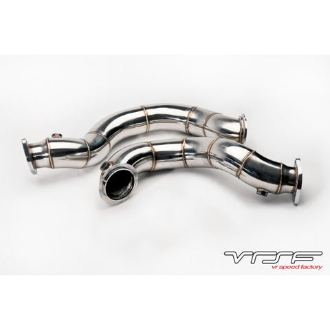 "VRSF 3"" Cast Stainless Steel Catless Downpipes V2 N54 07-10 BMW 335i / 08-10 BMW 135i"