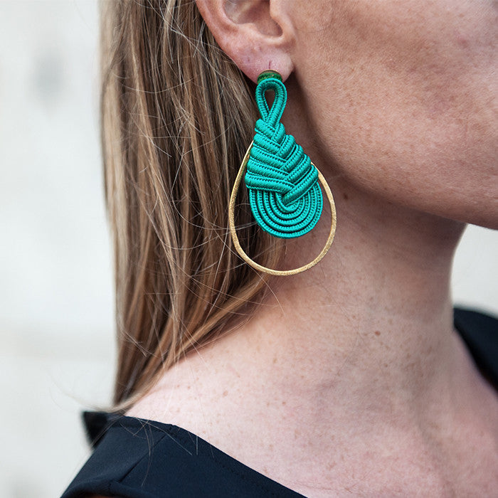 6a37bab934a9 Green with Envy Earrings in Emerald, Handmade by Knotty Gal – Knotty ...