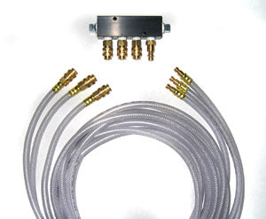 Deluxe Airhose And Manifold Block Kit