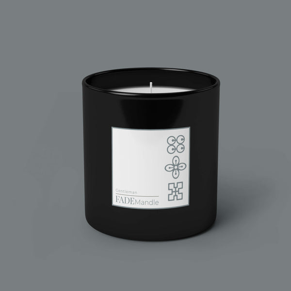 Men's Candle in Black Glass