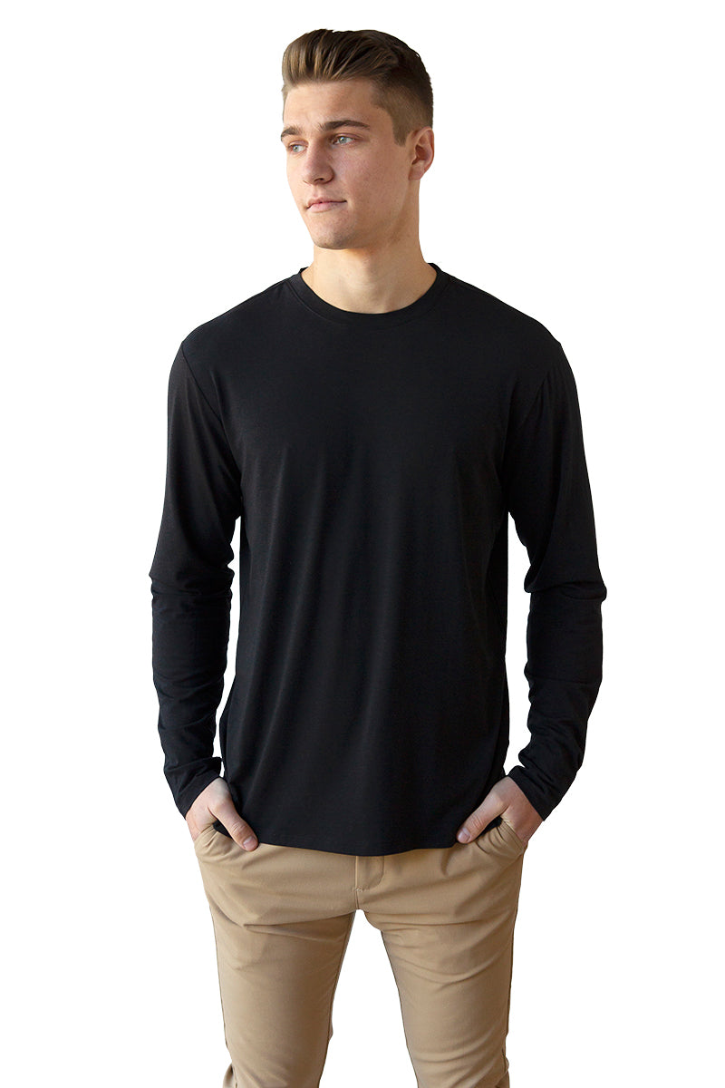 Men's Bamboo Cotton Long-Sleeve Tee