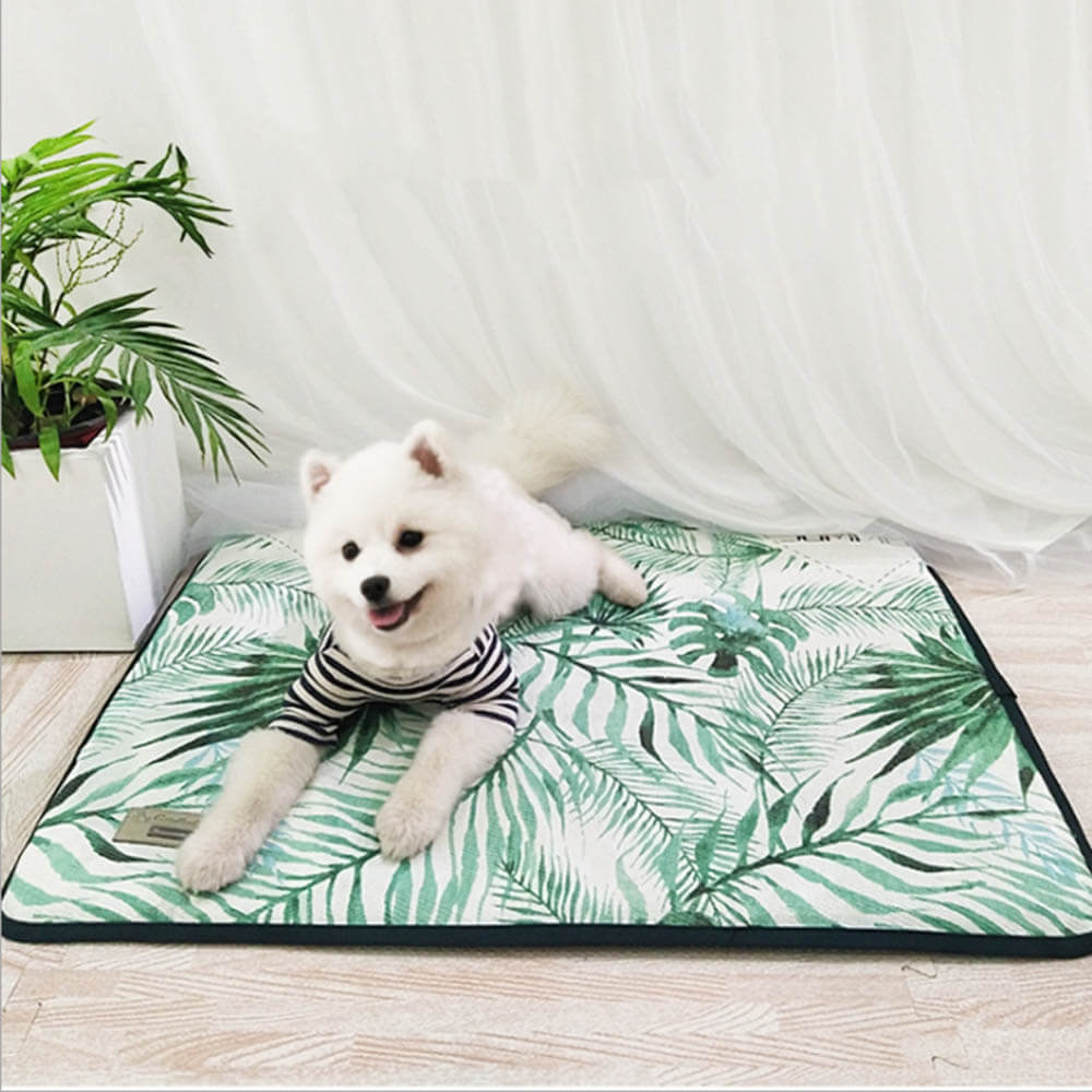 3D Print Summer Ice Silk Pet Dog Cooling Mat For Cat Dogs