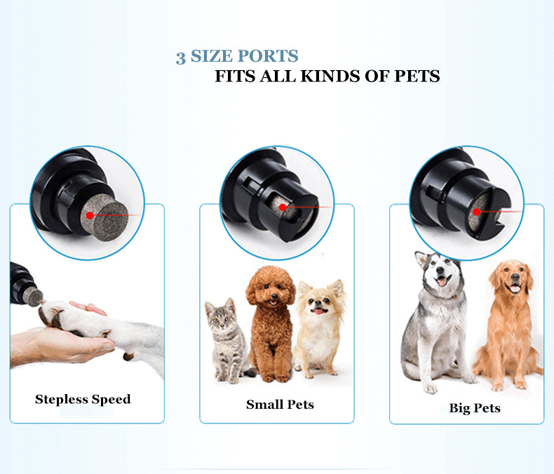 electric dog nail trimmer Powerful pet nail grinder electric dog nail clipper