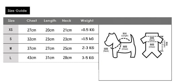 pet costume size guide aipaws