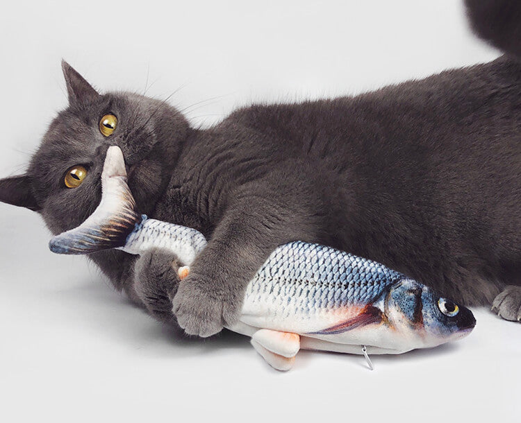 Moving cat fish toy Flopping cat toy