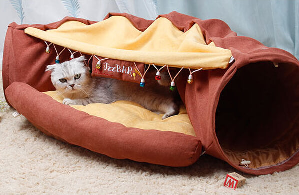 cat tunnel toy bed large cat bed