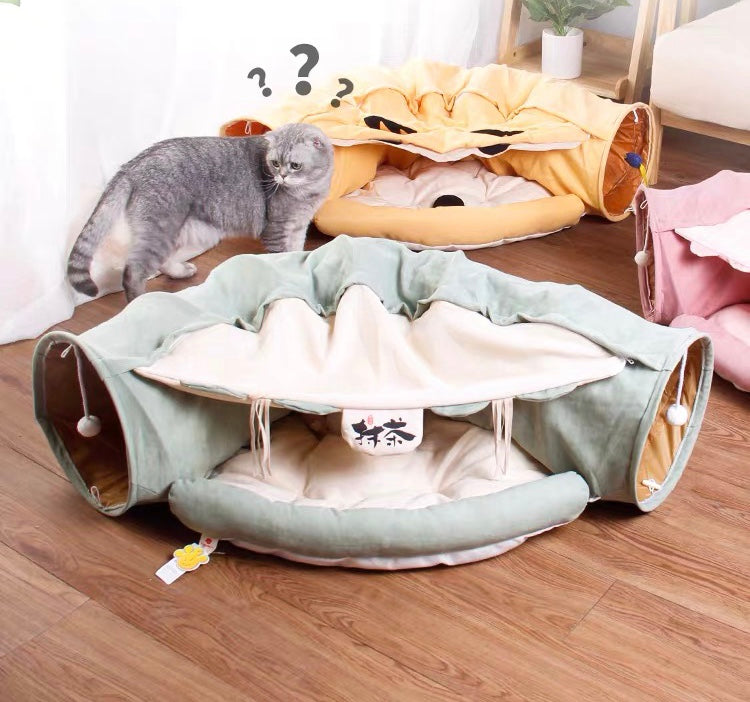 cat tunnel bed toy