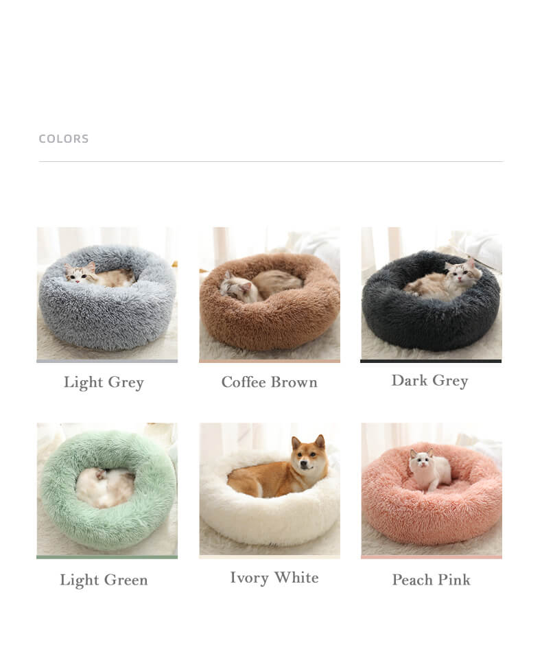 marshmallow cat bed round plush colors