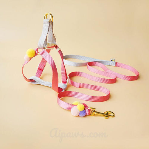 Aipaws-Candy-dog-harness-dog-harness-for-small-dogs-soft-dog-harness-and-leash-pink