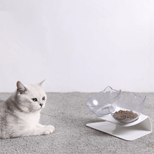 Load image into Gallery viewer, Tilted Cat Bowl