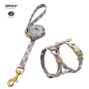 Arkika-Cat-Harness-and-Leash-travel-cat-harness-luxury-cat-harness-soft cat-harness-japan-japanese-pink-color