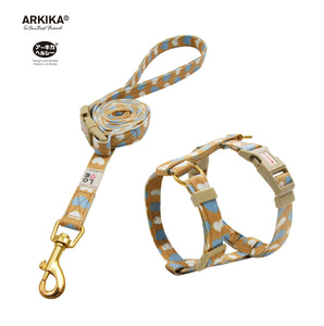 Arkika-Cat-Harness-and-Leash-travel-cat-harness-luxury-cat-harness-soft cat-harness-japan-japanese-yellow