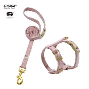 Arkika-Cat-Harness-and-Leash-travel-cat-harness-luxury-cat-harness-soft cat-harness-plaid-japan-PINK