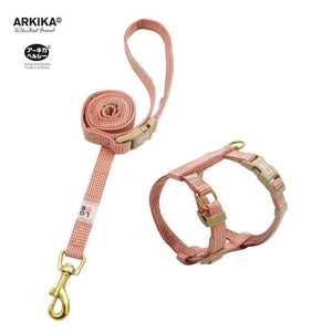 Arkika-Cat-Harness-and-Leash-travel-cat-harness-luxury-cat-harness-soft cat-harness-plaid-japan-RED