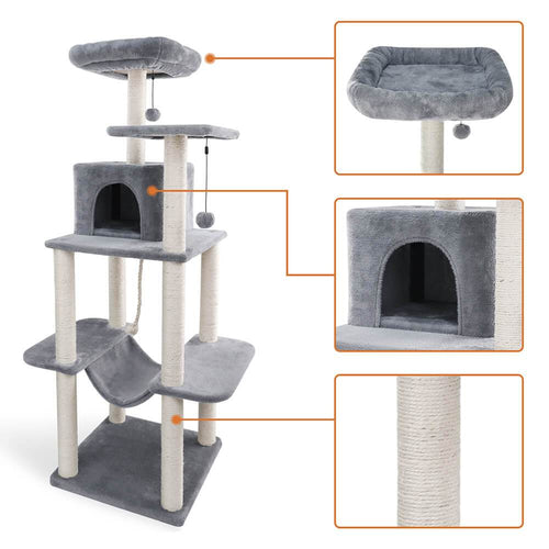 Cat-Tower-cat-tree-king-size-Cat-Furniture-cat-condo-cat-trees-tall cat tree