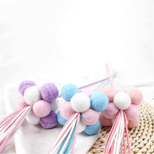 Load image into Gallery viewer, Pom Pom Ball Cat Teaser Toy Cat Wand