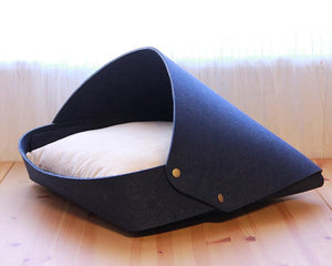 cat igloo bed Navy