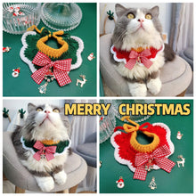 Load image into Gallery viewer, Christmas-Bow-Cat-Collar-Charm-handmade
