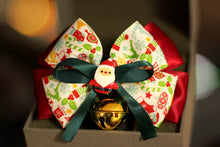 Load image into Gallery viewer, Christmas-Santa-Claus-Bow-Pet-Collar-Bell