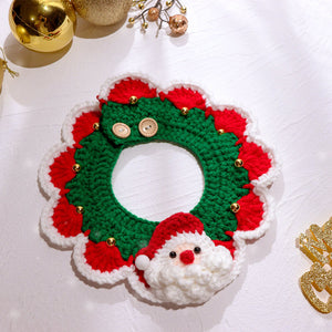 Christmas-Santa-Claus-Bow-cat-Collar