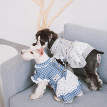 Load image into Gallery viewer, Dog-plaid-dress-dog-Lattice-dress-dog-maid dress