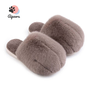 Floofy-Paw-Slippers-fluffy-cat-paw-slippers-animal-brown-Fluffy-indoor-slippers-for-woman-and-man-Faux-fur-slippers-Winter-House-Shoes-Fuzzy-Slippers-Furry-Slippers-Plush-Lining