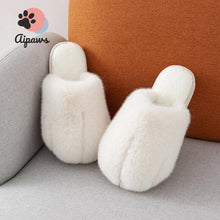 Load image into Gallery viewer, Floofy-Paw-Slippers-fluffy-cat-paw-slippers-animal-pink-Fluffy-indoor-slippers-for-woman-and-man-Faux-fur-slippers-Winter-House-Shoes-Fuzzy-Slippers-Furry-Slippers-Plush-Lining