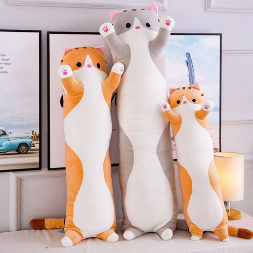 Long-cat-body-pillow-snuggle-kitty-pillow-Snuggle-cat-pillow -Stuffed-Animal-Toy-Big-Plush-Cat-Pillow-Cute-cat-soft-toy-Kids-body-pillow