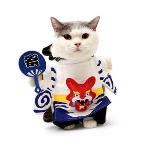 Onmyoji Costume for Cat Japanese Cat Costume Halloween