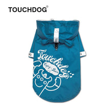 Load image into Gallery viewer, Touchdog-dog-raincoat-Dog-raincoat-with-hood-dog-rain-jacket-small-dog-raincoat-small-dog-raincoat blue