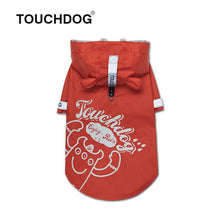 Load image into Gallery viewer, Touchdog-dog-raincoat-Dog-raincoat-with-hood-dog-rain-jacket-small-dog-raincoat-small-dog-raincoat red
