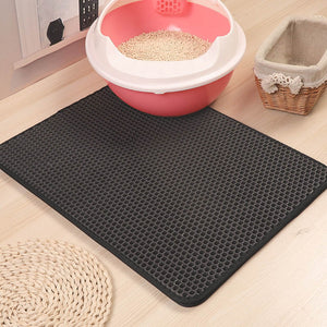 aipaws cat litter mat grey