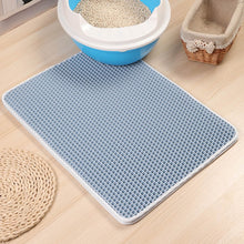 Load image into Gallery viewer,  cat litter mat blue