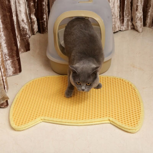 cat face cute cat litter mat
