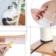 Load image into Gallery viewer, Wooden-Modern-Cat-Tower-cat-tree-king-size-Cat-Furniture-cat-condo-cat-trees-for-large-cats
