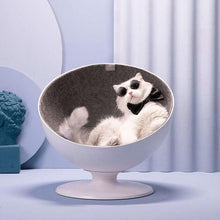 Load image into Gallery viewer, furrytail cat bed swivel