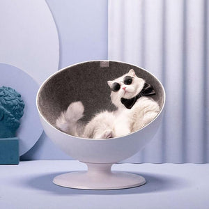 furrytail cat ball chair
