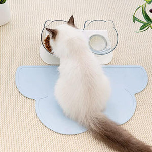 Anti-vomiting-cat-bowl-Posture cat bowl-orthopedic-cat-bowl-raised-cat-bowl-elevated-cat-feeder-cat-bowls-with-stand