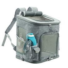 Load image into Gallery viewer, Cat Carrier Backpack large grey